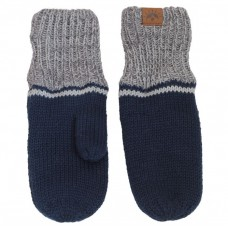 Calikids - Mitaine d'hiver unisexe en tricot de coton à poignets longs - Marine