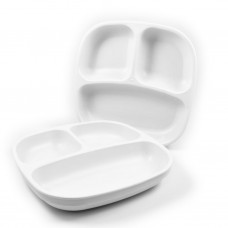 Re-Play - Assiette divisée de 7 po en plastique recyclé - Blanc